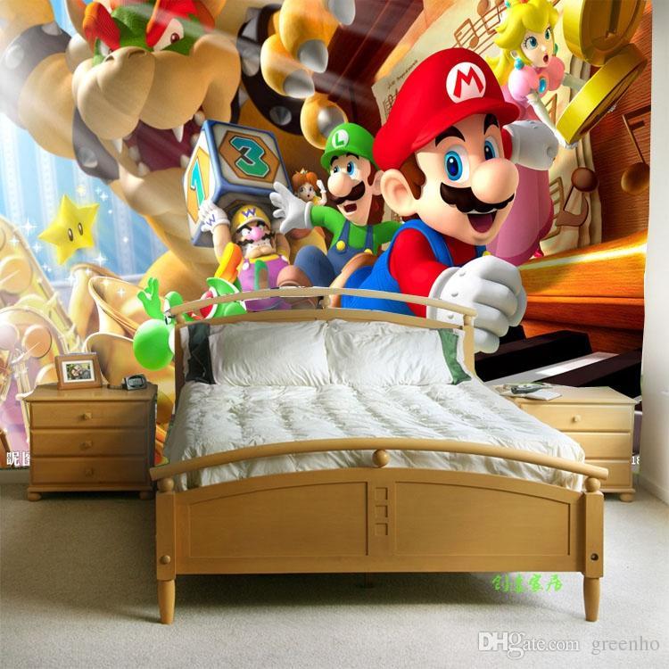 Custom Video Games Photo Wallpaper Super Mario Wall Mural