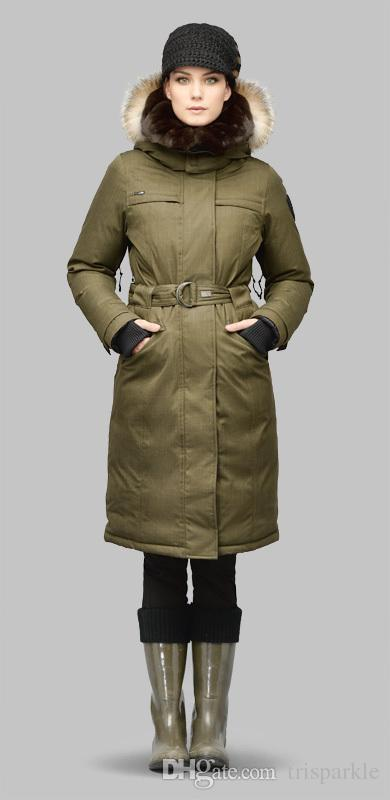 New Nobis She-Ra Extreme Parka Women Long Down Jackets Women Slim Winter Coat Removable Natural Fur Hooded Waterproof Windproof Online with $313.09/Piece on