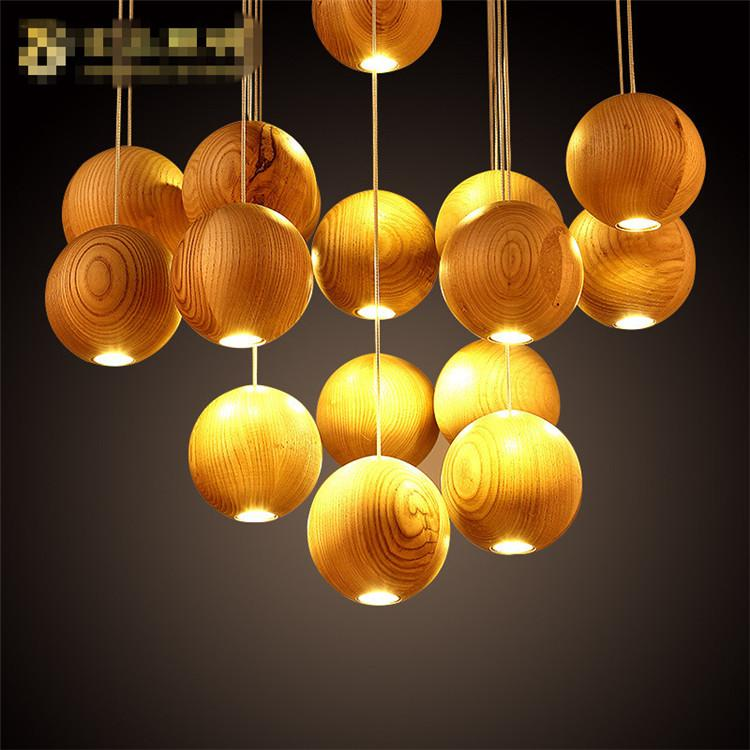 Discount Native Wood Handmade Wooden Chandelier Hanging