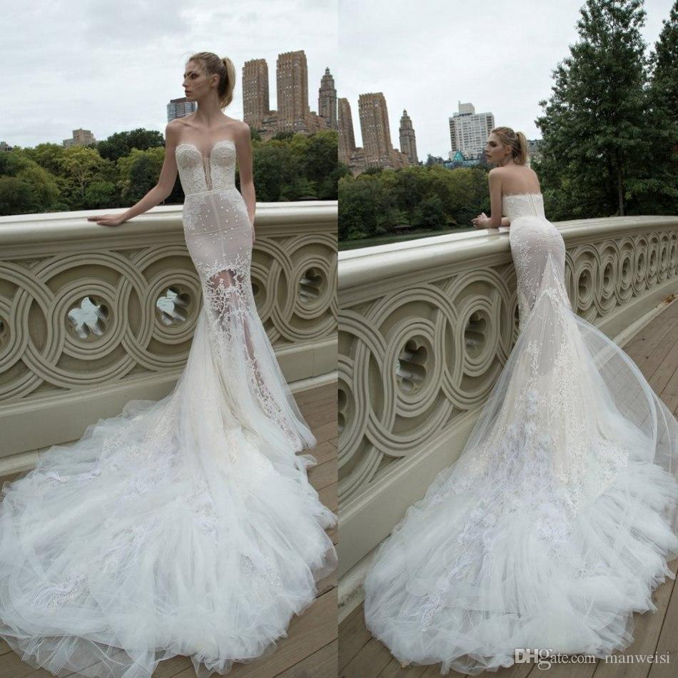 Beautiful lace trumpet wedding dresses sweetheart applique for Mermaid wedding dresses under 500