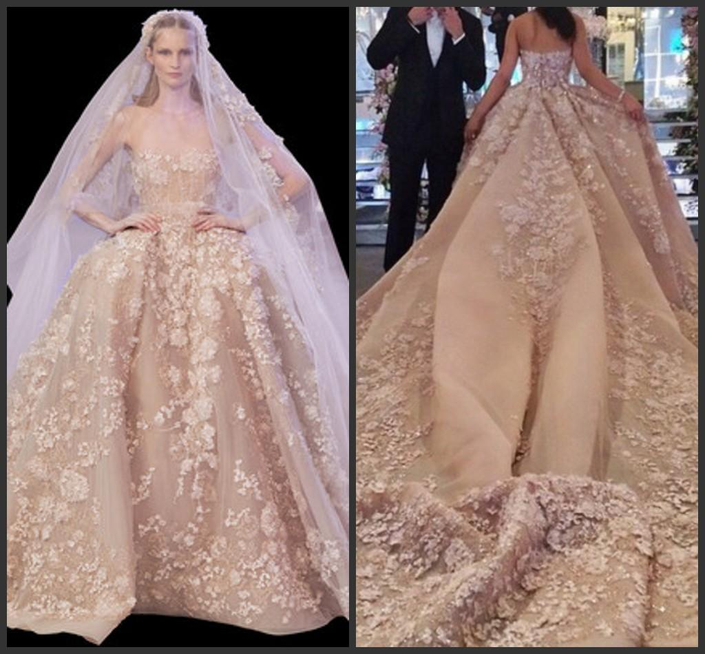 Zuhair Murad Full Applique Court Train Gorgeous Wedding