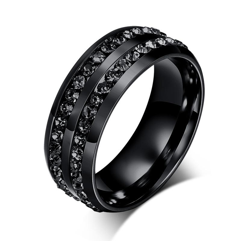 black crystal his and her promise ring sets wedding rings for men and women engagement ring - Wedding Ring For Men