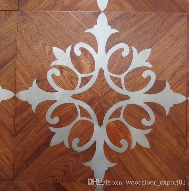 copper wood floor mosaic floor combination floor high-end custom