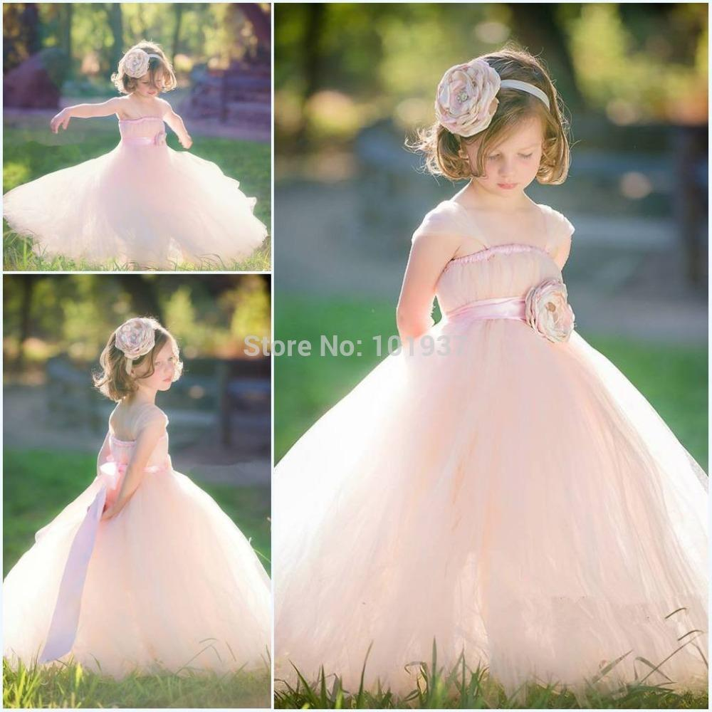 New Romantic Ball Gown Girls Pageant Dresses Flower Girl Dresses ...