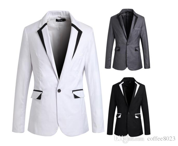 White And Black Blazer Mens Photo Album - Reikian