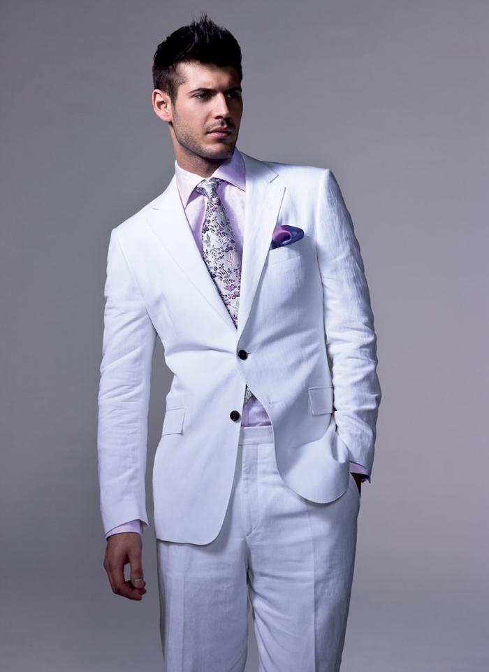 Cheap Casual White Linen Suits For Men | Free Shipping Casual