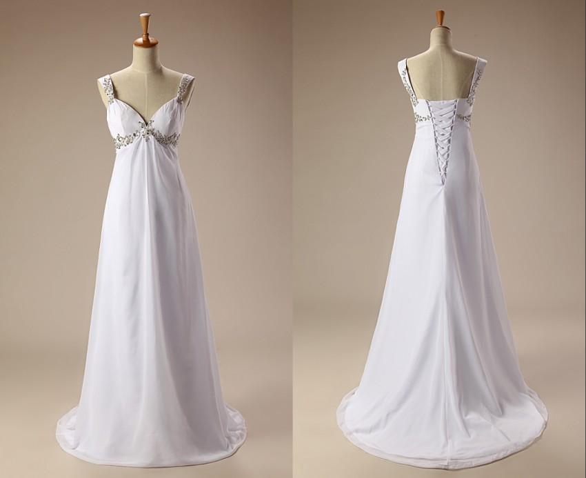 Discount sexy beach wedding dresses chiffon sweetheart for Plus size maternity wedding dresses cheap