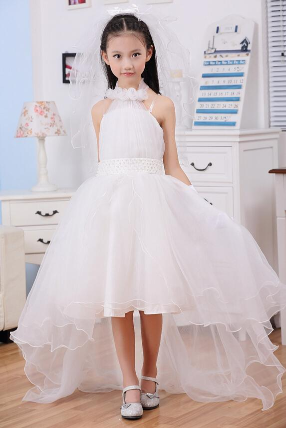 Elegant Girl Flower Girl Dresses Elegant Trailing Sleeveless Ball ...