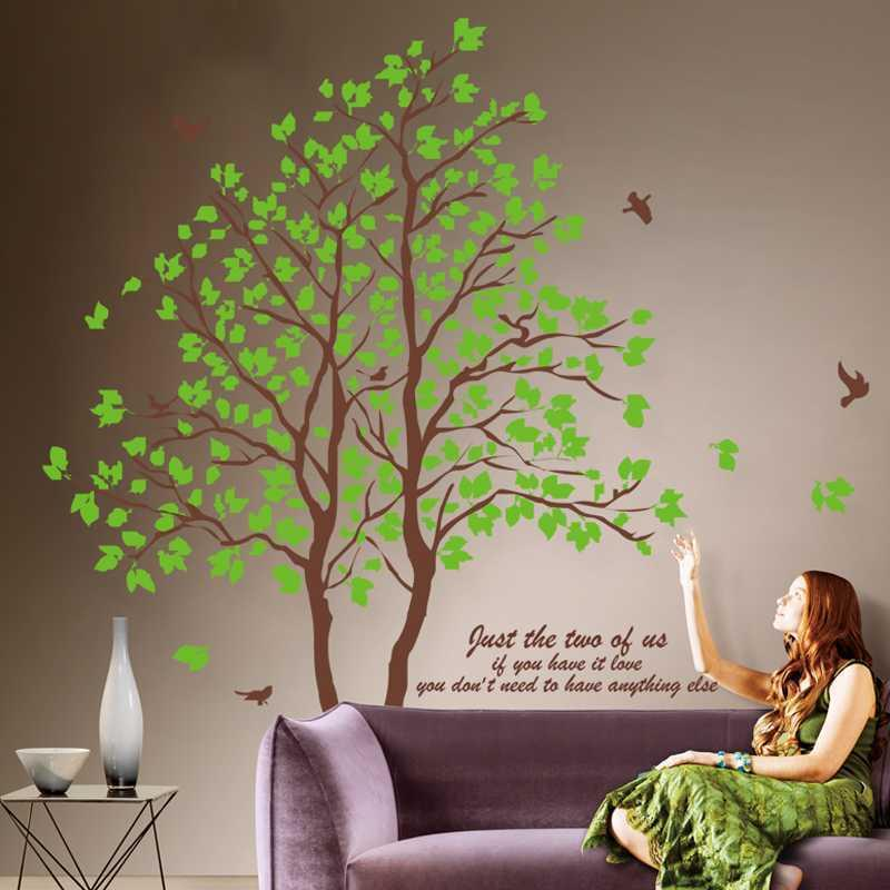 Super Large Green Tree Wall Sticker Wall Decals Art Wallpaper Home