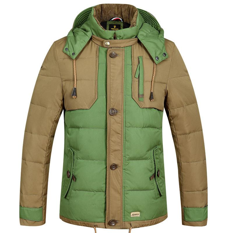 Drop Ship Fashion Brand Down Jacket Men Thicken Jackets Parka Men ...