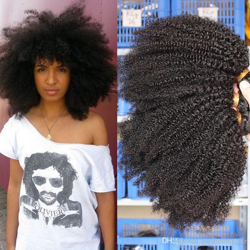 Natural afro hair weave extensions
