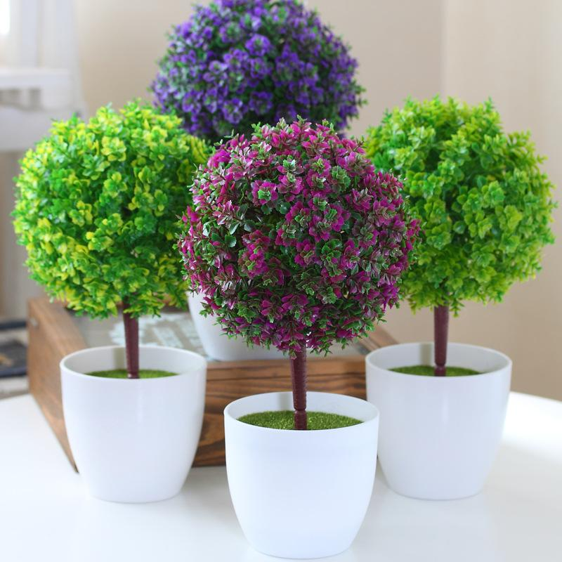 2017 hyson shop plastic artificial bonsai pot planter ball What are miniature plants grown in pots called