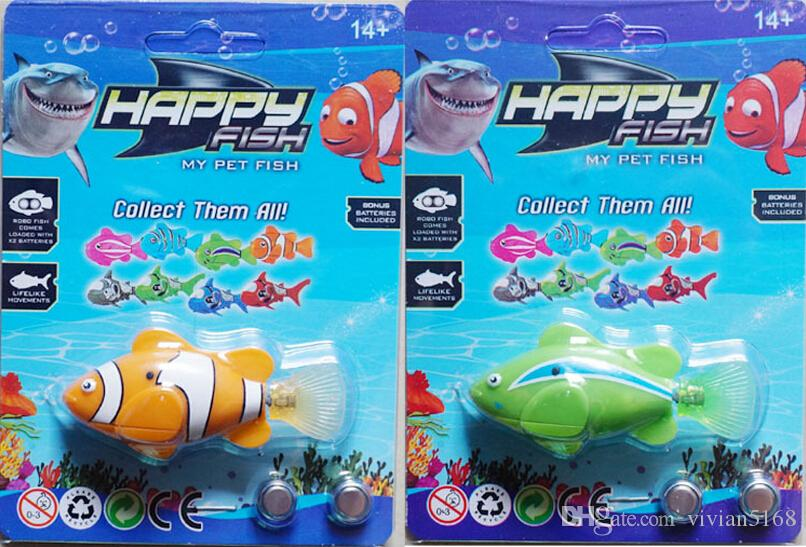 Novelty robo fish and shark water activated magical music for Swimming fish cat toy