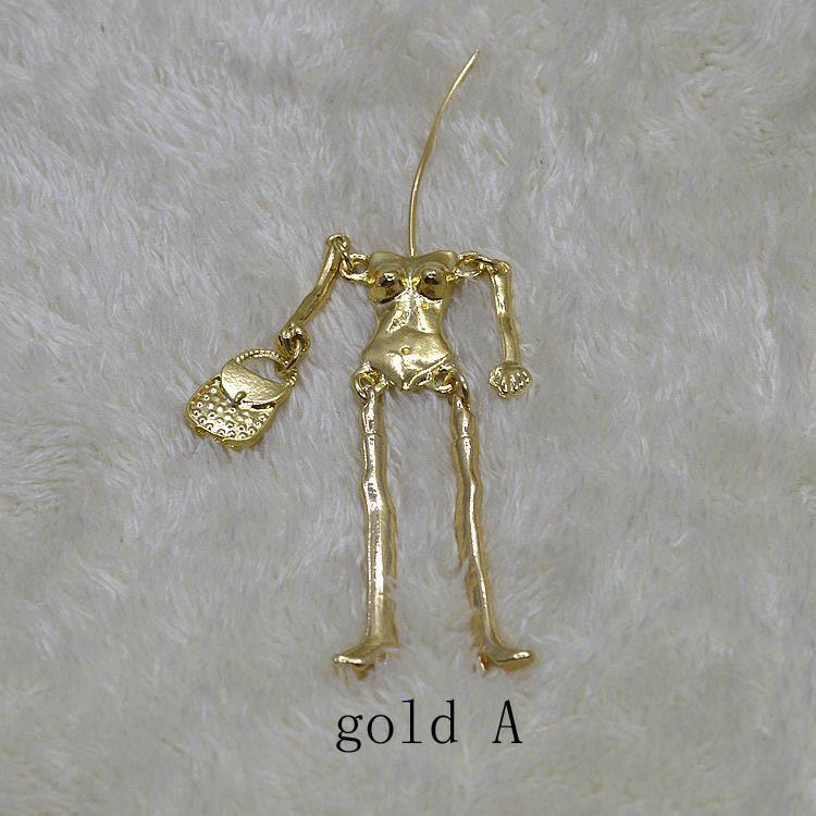 Gold dress necklace parts