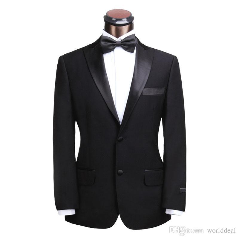 Gentlemen's Stylish Suits Set Black Coat Pants Slims Design Formal