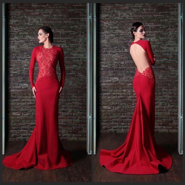 Sexy Evening Dresses Gatsby Dress Long Sleeve Muslim Court Train ...
