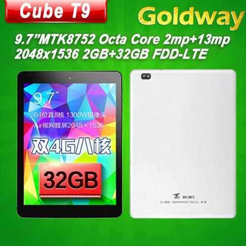 Cube original T9 MTK8752 Octa base 2.0GHz 9.7