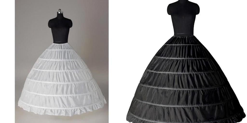 Super cheap ball gown 6 hoops petticoat wedding slip for Super cheap wedding dresses