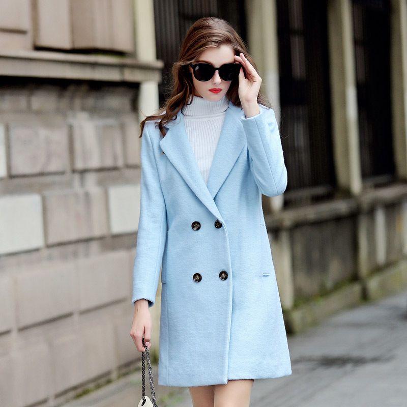 Women Woolen Coat 2015 Hot Sale Autumn And Winter Fashion Wool