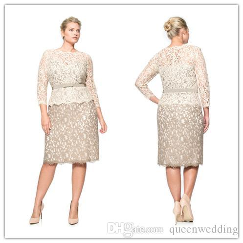 Elegant 2015 Mother of the Bride Dresses See Through Short Dresses ...