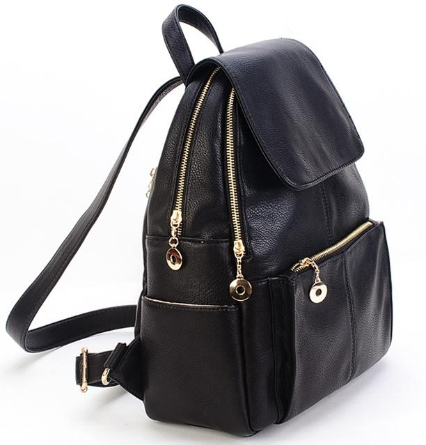 New 2016 Korea Style Fashion Pu Leather Backpack Women School ...
