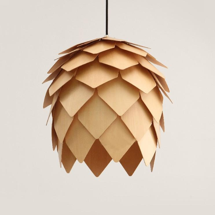 modern design ikea style wooden pinecone shape small pendant lights suspension lamps for home deco hanging lamp ceiling lamps from kepiwell7 - Suspension Origami Ikea