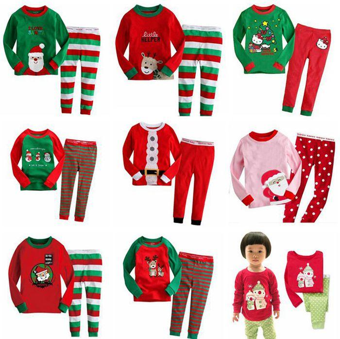 Kids Pajamas Sets Children Sleepwear Boys Nightwear Girls Family ...