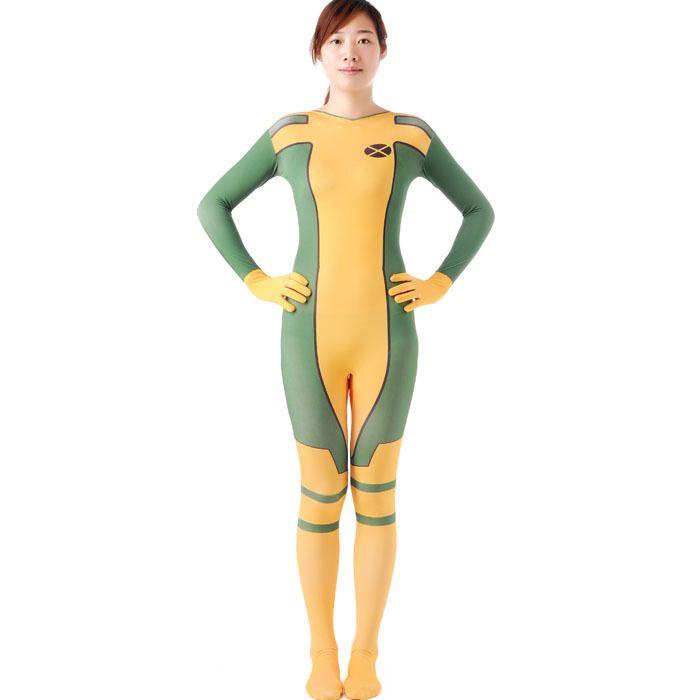 rogue costume x,men adult superhero cosplay halloween costumes for women zetai full bodysuits carnival rogue costume women