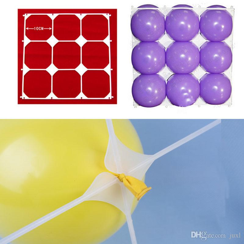 Hot Plastic Party Balloons Grids For Birthday 9 Holes Wall Background Festival Decorations Supplies Home Accessories