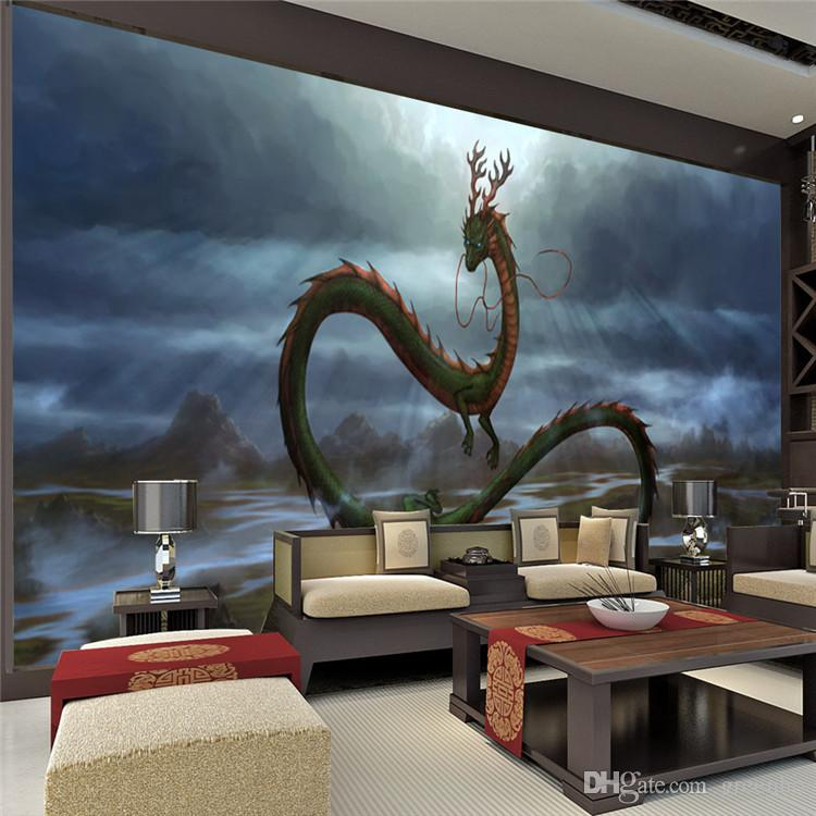 vintage dragon wall mural 3d wallpaper cartoon animation quot chinese dragon wall mural quot by imajica redbubble