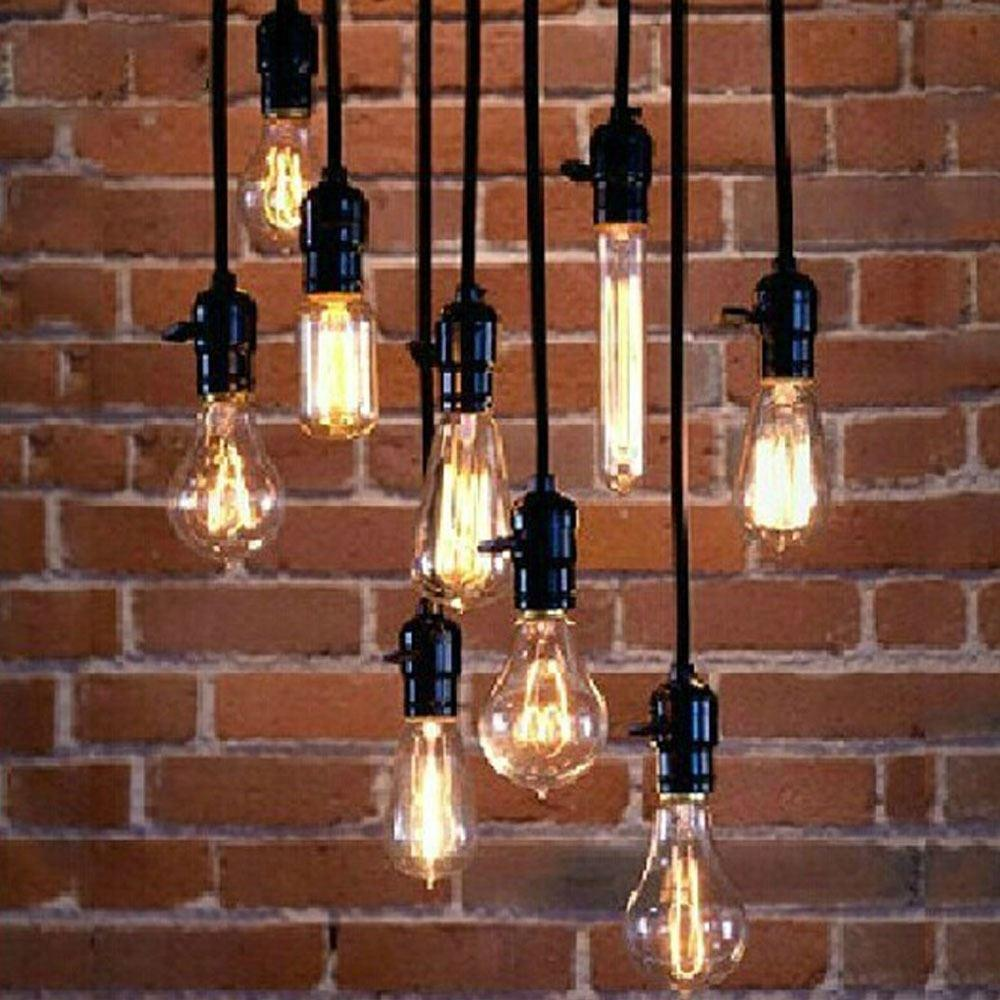 Loft coffee bar decorative lamp wire personality edison bulb bar ...