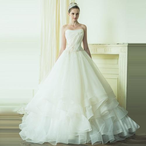 Strapless ball gown organza wedding dresses 2015 new for Non traditional wedding dresses plus size