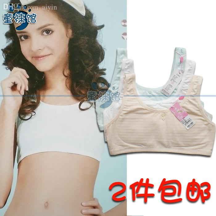 Wholesale ! Girls' Cotton Crop Tops Green / White / Bare. Solid ...