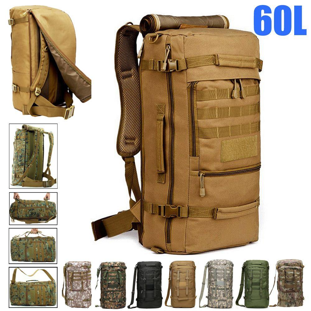 60l Waterproof Military Tactical Molle Women Laptop Backpack 15.6 ...