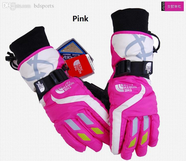 Wholesale-New women's SNOWBOARD SNOWMOBILE SKI Gloves Motorcycle Riding Sports Waterproof Free Shipping