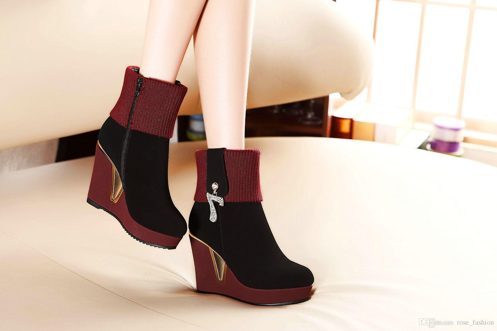 Hot Sale Suede Leather Boots Classics Shoes Platform Boots Female ...
