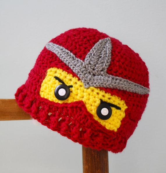 Crochet Ninjago Hats Ninja Hat Crochet Ninja Beanie ...