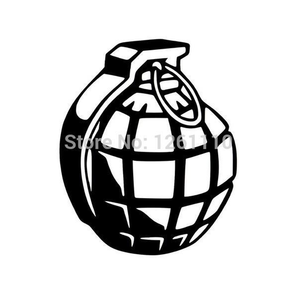 Hand Grenade Reflective JDM Vinyl Decal Sticker Car Window - Vinyl decal stickers for cars