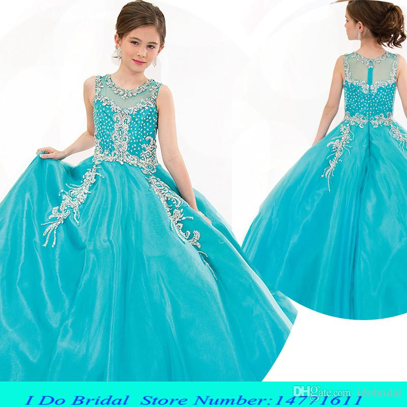 Blue Pageant Dresses For Little Girls Beauty Pageant Gowns 2015 10 ...