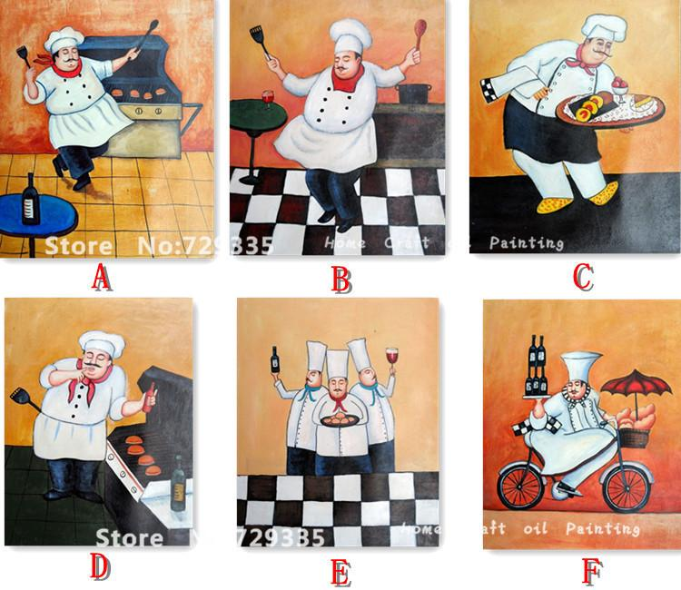 Modern Kitchen Paintings chef wall decorations for kitchen. lady chef art print girl chef