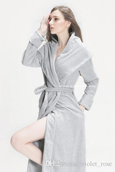 2016 New Winter Men/women Lovers Robes Wool Sleepwear Sexy ...