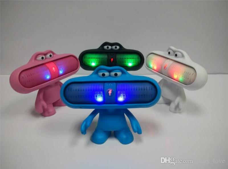 Hot Sales Led Pill Speaker Stand Dude Doll Big Mouth