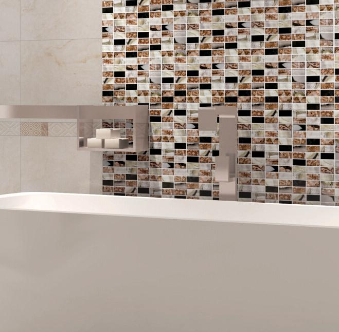 Mixed Colors Strip Mosaic Tile Bathroom Kitchenroom Backsplash Wall  Cladding Glass Mosaic Marble Tiles Medallions Mosaic Tile Online With  $17.5/Square Feet ... Part 85