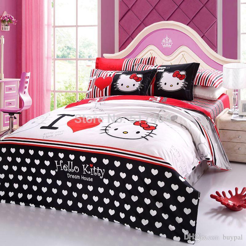 Kitty King hello bed set