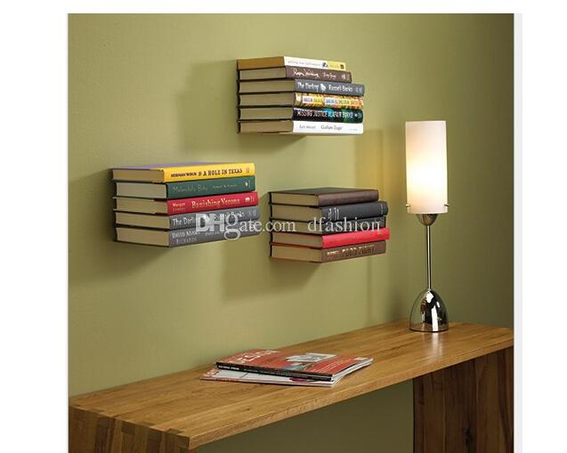 Colorful Bookshelf Decoration Home Conceal Invisible Bookshelf Wall Mounted Floating Book Shelf Shelves Stylish DHL Free
