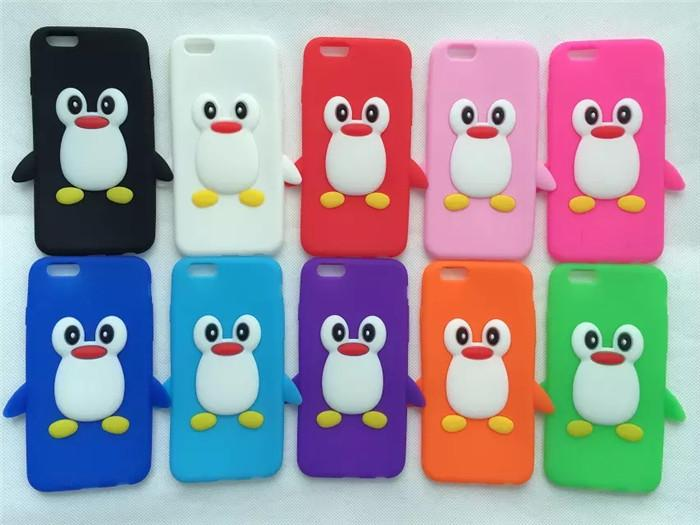 Iphones Cases Cheap Girl Penguin Silicone Case For
