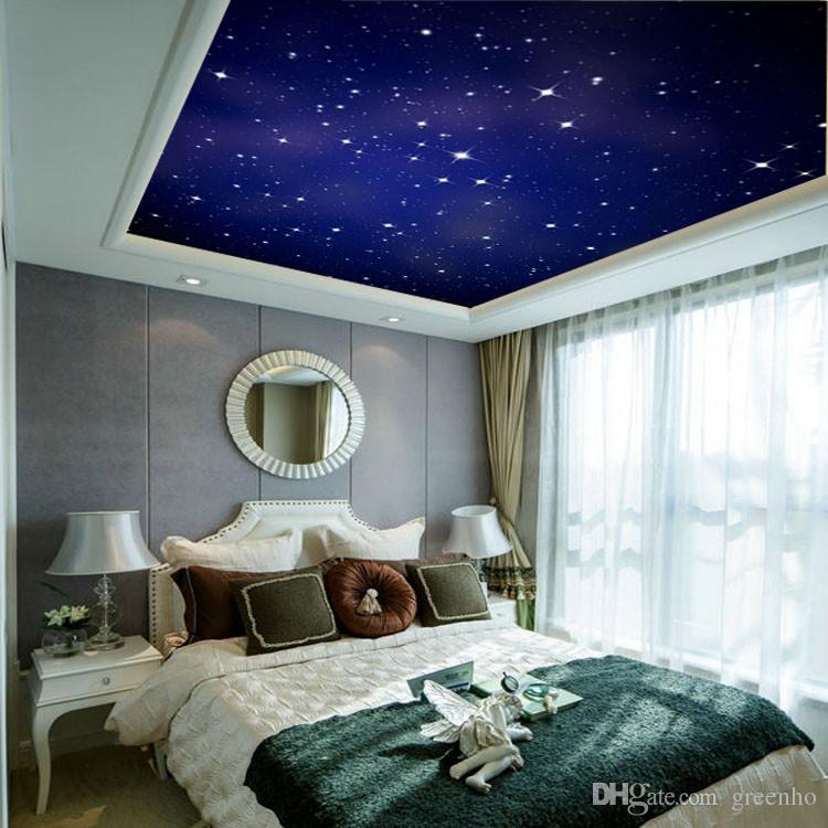 Custom large photo wallpaper romantic starry night wall for Scenery wallpaper for bedroom