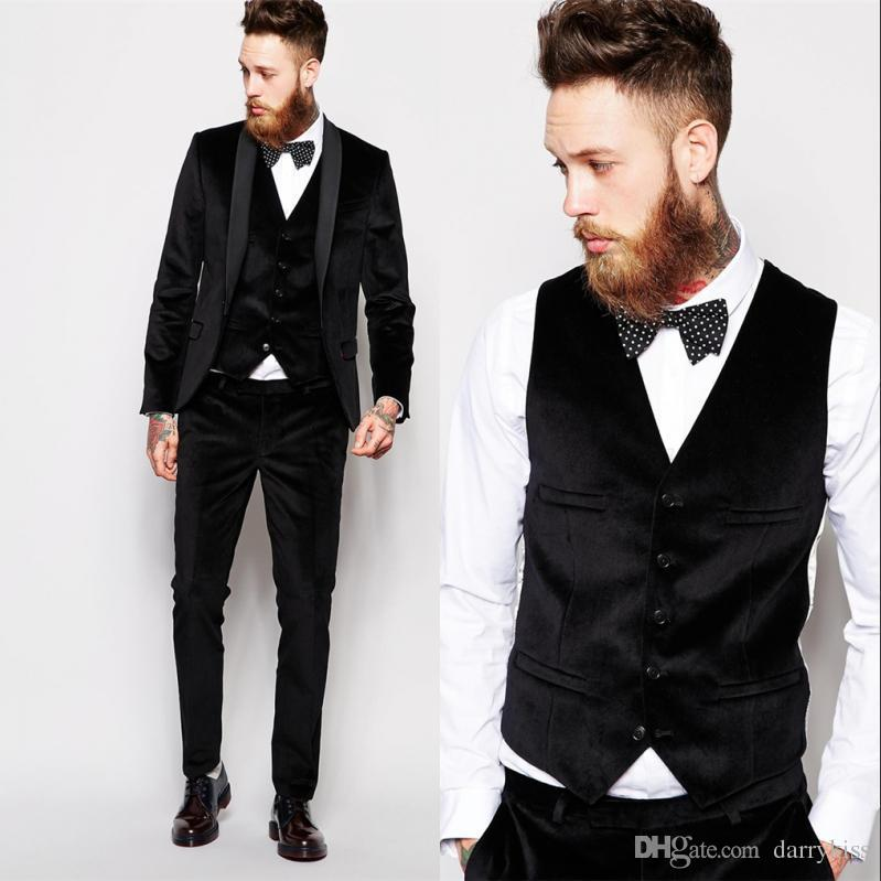 Black Suit Custom Made Groom Tuxedos Blue Business Suits Classic