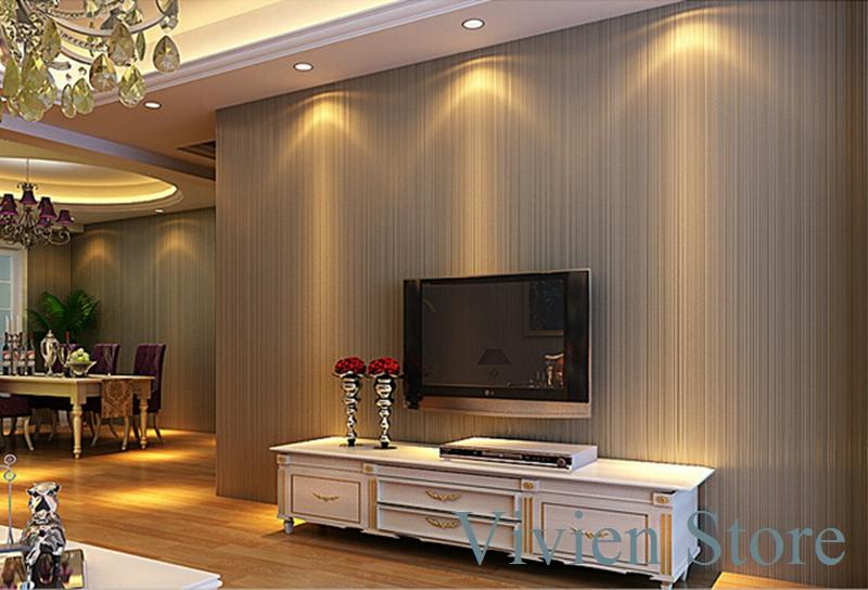 Plain solid color 3d non woven striped wallpaper new for Latest 3d wallpaper for bedroom