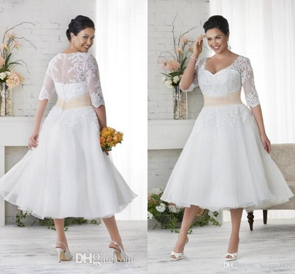 50 s Style Retro Wedding Dresses 2016 Sweetheart Half